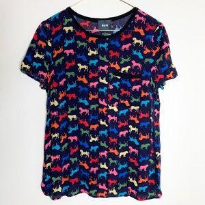 Anthropologie Maeve Rainbow Animal Shirt 6